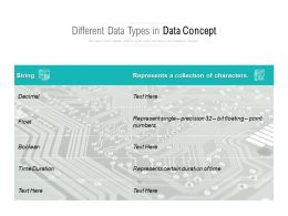 Different Data Types In Data Concept