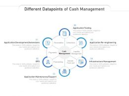 Different Datapoints Of Cash Management
