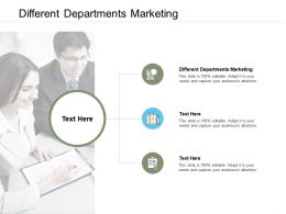 Different Departments Marketing Ppt Powerpoint Presentation Outline Shapes Cpb