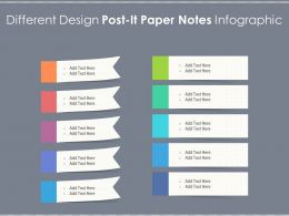 Different Design Post It Paper Notes Infographic