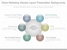 Different Direct Marketing Sample Layout Presentation Backgrounds