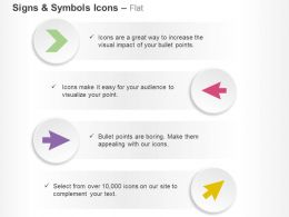 Different Directional Pointed Arrows Ppt Icons Graphics