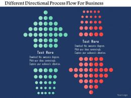 Different Directional Process Flow For Business Flat Powerpoint Design