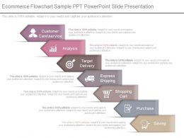 Different Ecommerce Flowchart Sample Ppt Powerpoint Slide Presentation