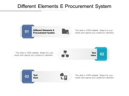 Different Elements E Procurement System Ppt Powerpoint Presentation Infographic Template Cpb