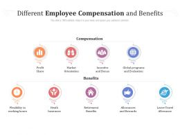 Different Employee Compensation And Benefits