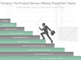 Different Enhance The Product Service Offering Powerpoint Topics