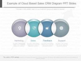 Different Example Of Cloud Based Sales Crm Diagram Ppt Slides