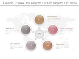 Different Example Of Data Flow Diagram For Crm Diagram Ppt Ideas