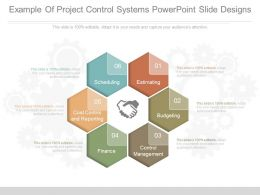 Different Example Of Project Control Systems Powerpoint Slide Designs