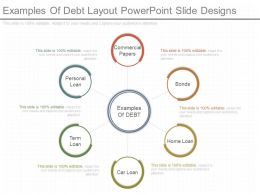 Different Examples Of Debt Layout Powerpoint Slide Designs