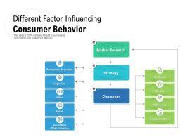 Different Factor Influencing Consumer Behavior