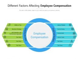 Different Factors Affecting Employee Compensation
