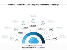 Different Features For Cloud Computing Information Technology