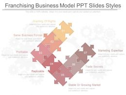 Different Franchising Business Model Ppt Slides Styles
