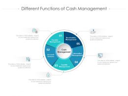 Different Functions Of Cash Management