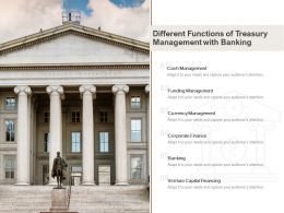 Different Functions Of Treasury Management With Banking