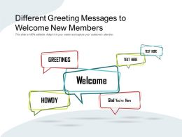 Different Greeting Messages To Welcome New Members