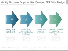 Different Identify Business Opportunities Example Ppt Slide Design