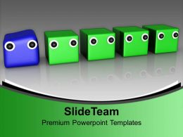 Different Individuality Leadership PowerPoint Templates PPT Themes And Graphics 0113