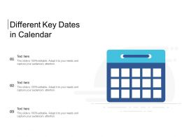 Different Key Dates In Calendar