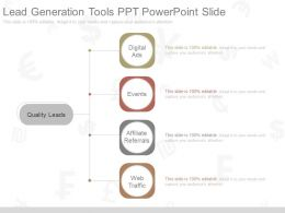 Different Lead Generation Tools Ppt Powerpoint Slide