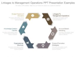 Different Linkages To Management Operations Ppt Presentation Examples