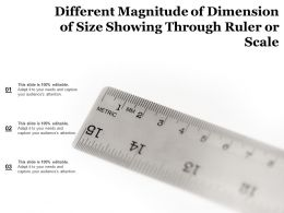 Different Magnitude Of Dimension Of Size Showing Through Ruler Or Scale