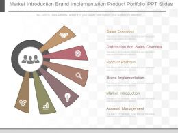 Different Market Introduction Brand Implementation Product Portfolio Ppt Slides