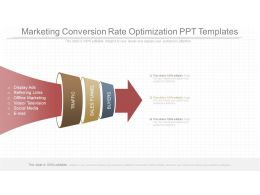 Different Marketing Conversion Rate Optimization Ppt Templates