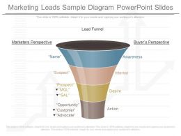 Different Marketing Leads Sample Diagram Powerpoint Slides