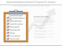 Different Marketing Management Solutions Ppt Business Ppt Summary