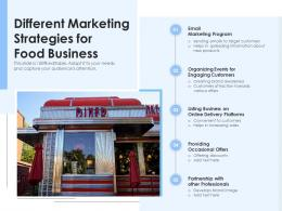 Different Marketing Strategies For Food Business