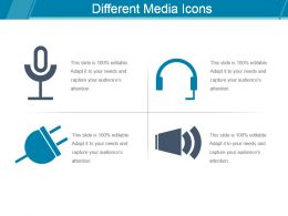 Different Media Icons Ppt Slides