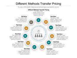 Different Methods Transfer Pricing Ppt Powerpoint Presentation Portfolio Smartart Cpb