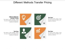 Different Methods Transfer Pricing Ppt Powerpoint Presentation Styles Infographic Template Cpb