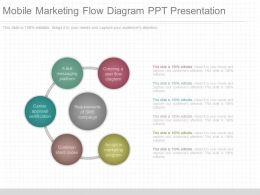 Different Mobile Marketing Flow Diagram Ppt Presentation