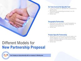 Different Models For New Partnership Proposal