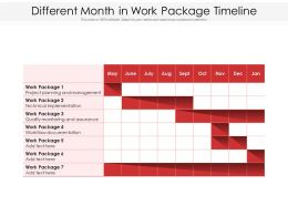 Different Month In Work Package Timeline