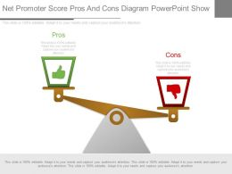 Different Net Promoter Score Pros And Cons Diagram Powerpoint Show