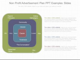 Different Non Profit Advertisement Plan Ppt Examples Slides
