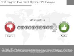 different_nps_diagram_icon_client_opinion_ppt_example_Slide01
