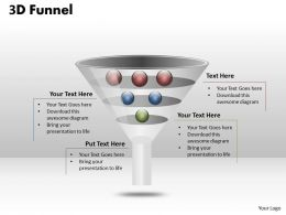 67570224 Style Layered Funnel 3 Piece Powerpoint Presentation Diagram Infographic Slide