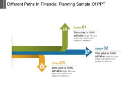 Different Paths In Financial Planning Sample Of Ppt