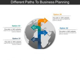 Different Paths To Business Planning Powerpoint Layout