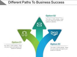 Different Paths To Business Success Powerpoint Slide