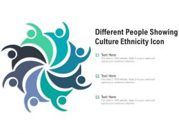 Different People Showing Culture Ethnicity Icon