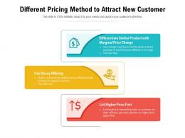 Different Pricing Method To Attract New Customer