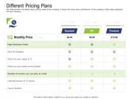 Different Pricing Plans Pre Seed Capital Ppt Background