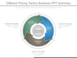 Different Pricing Tactics Business Ppt Summary